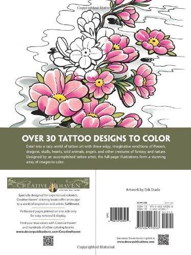 Creative Haven Modern Tattoo Designs Coloring Book (Creative Haven ...