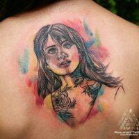 красивая женщина портрет тату