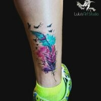Feather-with-Birds-Watercolor-Tattoo-square