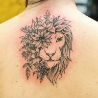 Lion tattoo for girls